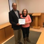 Dr. Harold Freeman and me Patient Navigator Certifiate NY NY 12 10 16